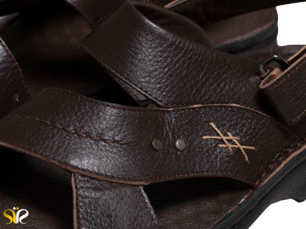 چندل مردانه چرم رنگ قهوه ای سی سی مدل لافت - کفش - صندل - تبریز