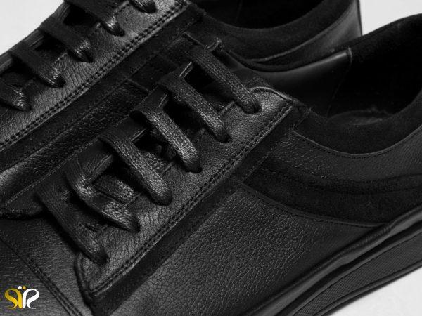 کفش اسپرت مردانه با رویه چرم گاوی و نبوک مدل کارلوس