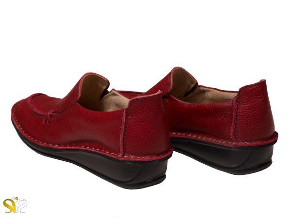 کفش زنانه طبی مدل مرسده رنگ قرمز - کفش طبی زنانه