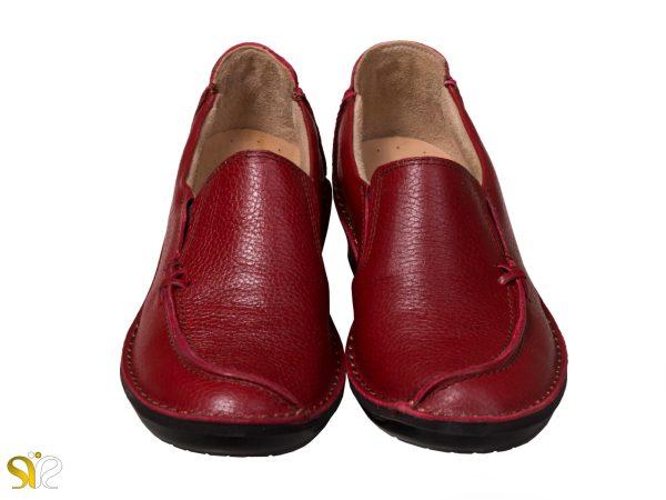 کفش زنانه مدل مرسده رنگ قرمز - کفش طبی زنانه
