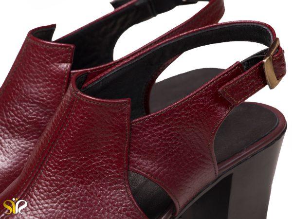 کفش مجلسی و سبک زنانه مدل مایلین رنگ زرشکی