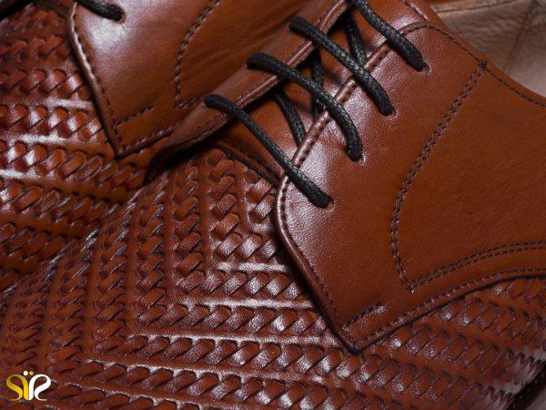 کفش مردانه مدل بافتی با رویه بافته شده - هنر دستی تبریز