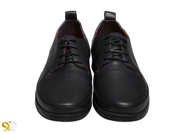 کفش مردانه چرمی مدل پادوس رنگ مشکی - کفش سی سی