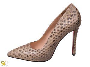 کفش پوست مار پایتون زنانه مدل جاستینی