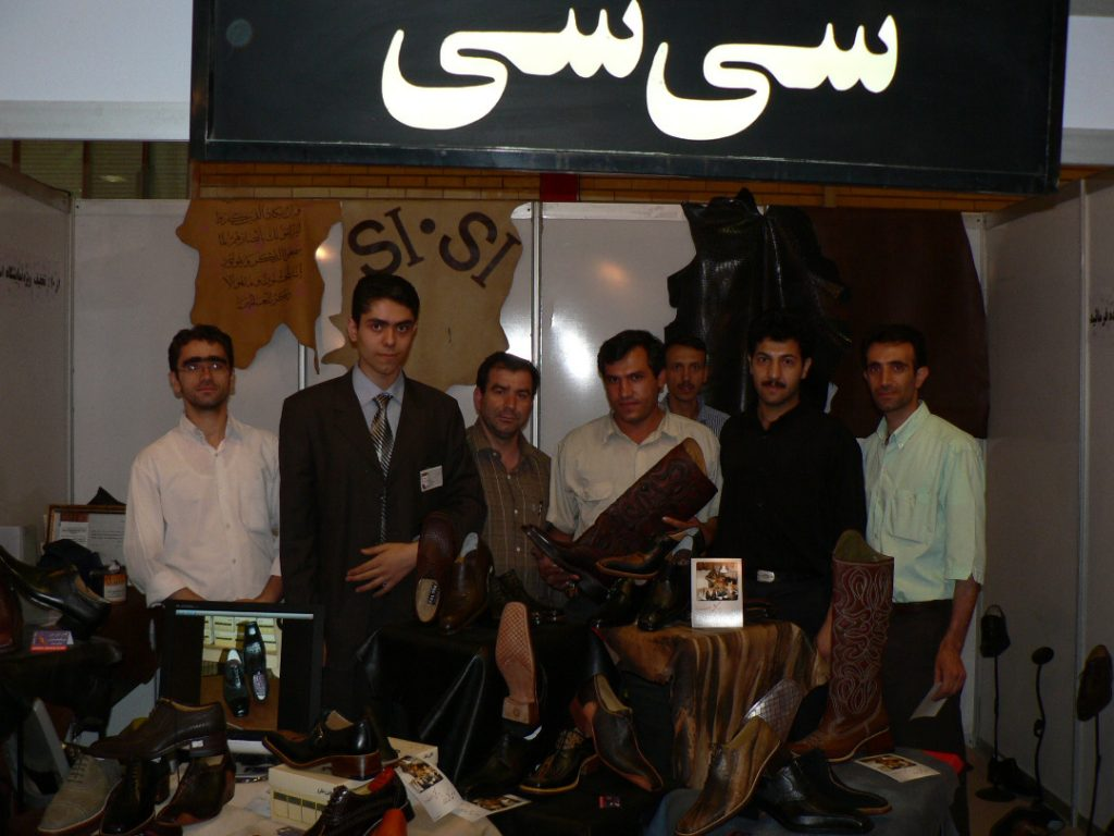 حضور آرش خادم و سی سی در نمایشگاه کفش و چرم تبریز