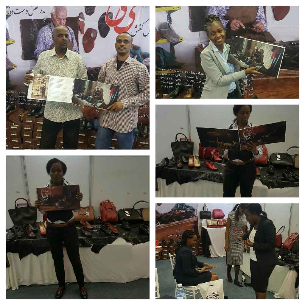 عکس های یادگاری از حضور کفش سی سی در نمایشگاه توانمندی های ایران در کنیا
