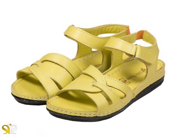 عکس مدل صندل زنانه رنگ زرد لورل - کفش سیس ی