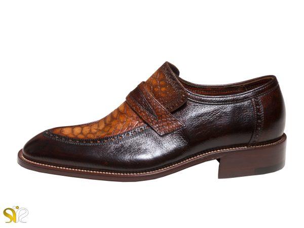 عکس مدل کفش مجلسی مردانه پلاتینیوم سی سی چرم ایتالیایی کروکودیل