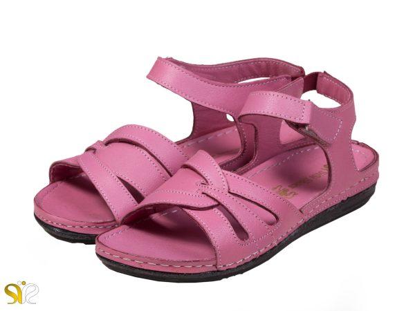 مدل صندل زنانه رنگ صورتی گلبهی لورل - کفش سی سی