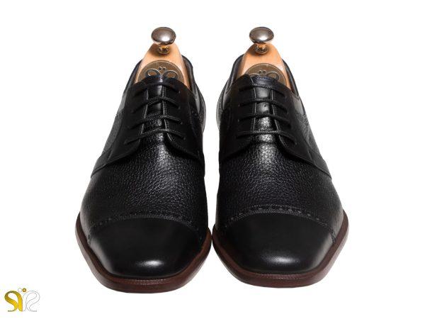 کفش چرم مردانه مدل بیروتی با چرم شلانک