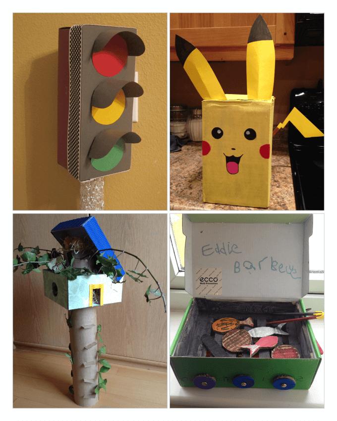 ایده های خلاقانه کودکان از جعبه های کفش