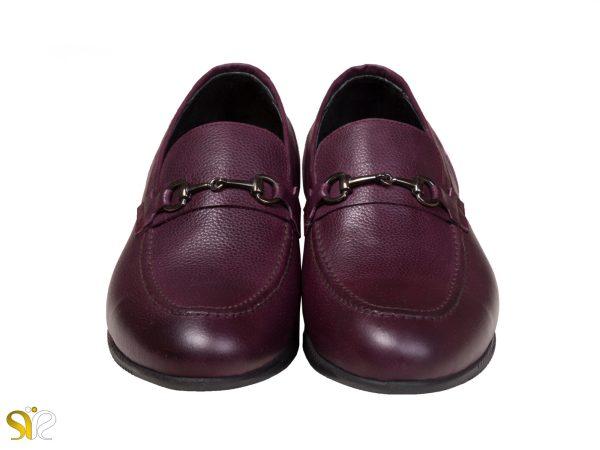 رنگ شرابی کفش کالج مردانه مدل گابریل سی سی