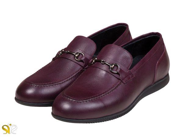 عکس مدل کفش کالج مردانه گابریل رنگ شرابی
