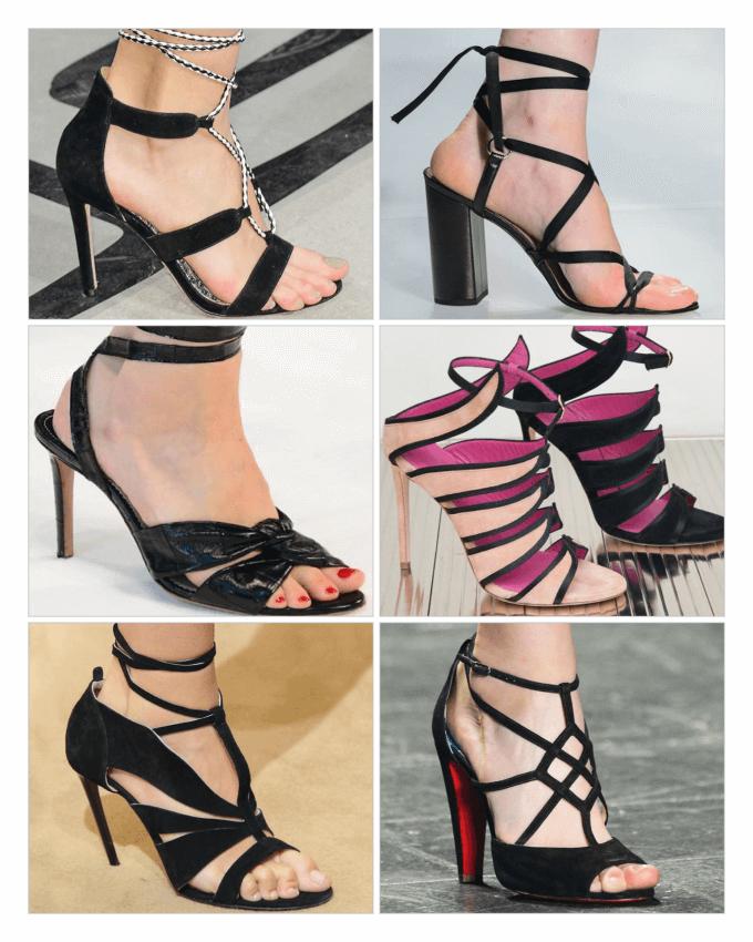 کفش های زنانه پاشنه بلند جلو باز