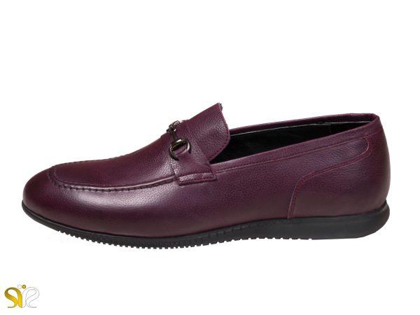 کفش کالج مردانه مدل گابریل رنگ شرابی - کفش سی سی
