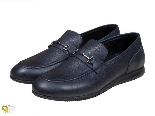 کفش کالج مردانه چرمی مدل گابریل رنگ سرمه ای