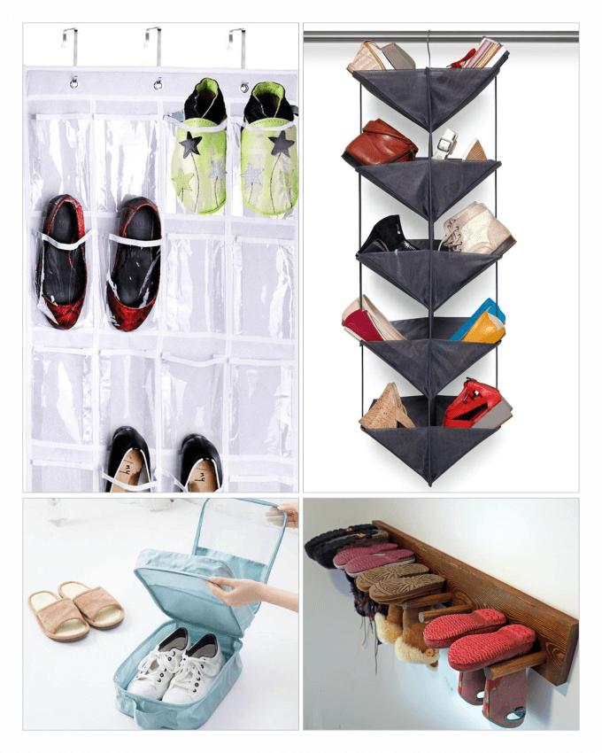 ایده های خلاقانه انواع جا کفشی و چیدن کفش