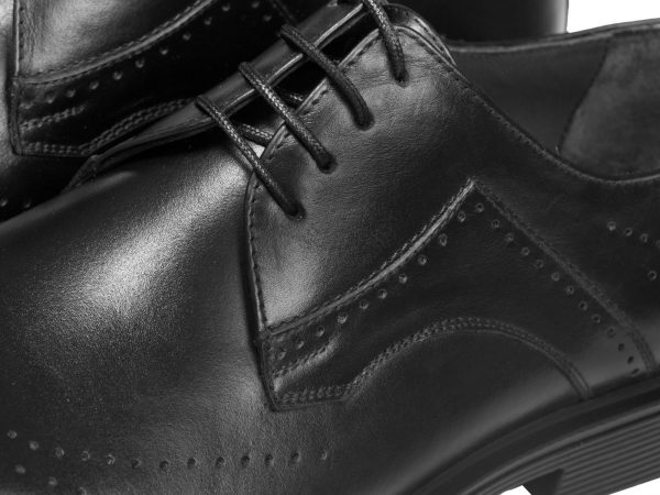 رویه چرمی کفش مجلسی مردانه مدل کالدرون سی سی - کفش مردانه