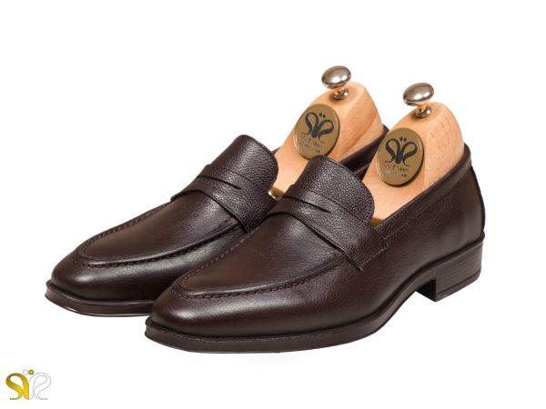 عکس مدل کفش مردانه رسمی بوفالو رنگ قهوه ای - کفش تبریز