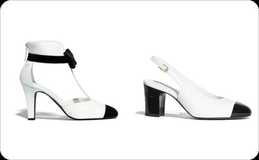 مدل انواع کفش های زنانه با پستایی (Uppers) سیاه و سفید (۲)