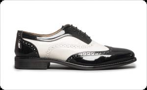 مدل انواع کفش های چرمی مردانه با پستایی (Uppers) سیاه و سفید