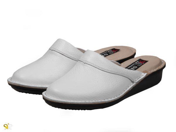 مدل دمپایی بیمارستانی زنانه پانیسا رنگ سفید - کفش سی سی