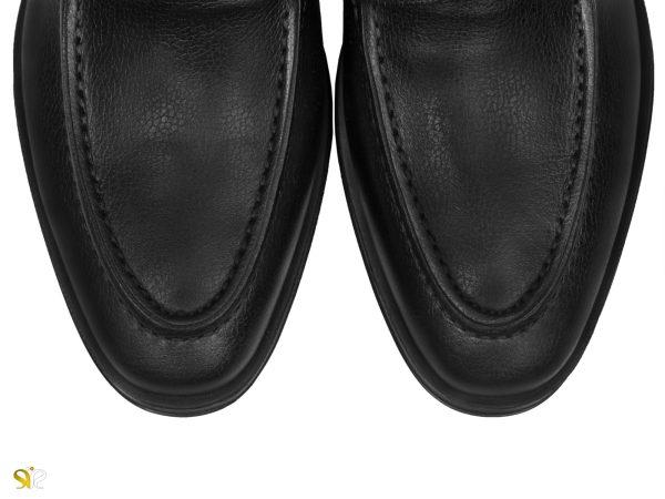 پنجه گرد کفش مردانه مدل بوفالو مشکی - کفش سی سی