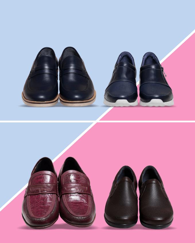 عکس ست کفش زنانه و مردانه چرمی