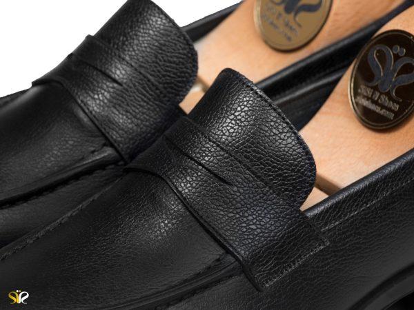 چرم طبیعی ملینگ برای کفش مردانه مدل بوفالو - کفش تبریز