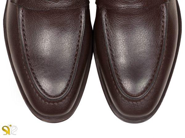 چرم ملینگ قهوه ای کفش مردانه مدل بوفالو - کفش سی سی