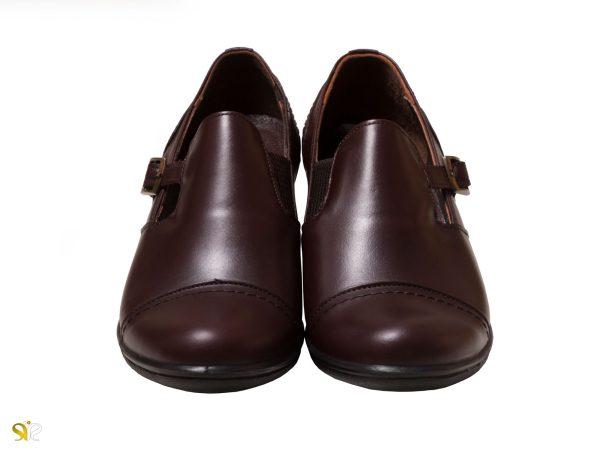 کفش اداری زنانه مدل ادین قهوه ای - کفش طبی زنانه
