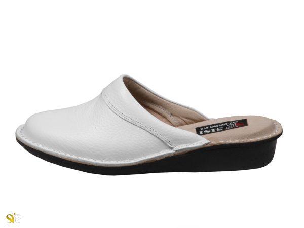 کفش دمپایی بیمارستانی زنانه مدل پانیسا رنگ سفید - کفش تبریز