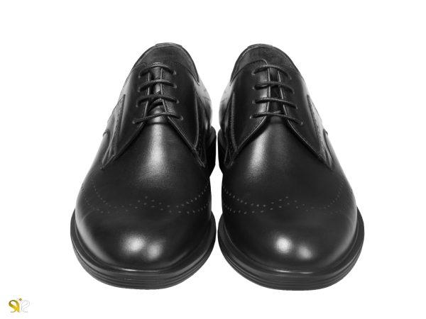کفش مردانه رسمی براق سی سی مدل کالدرون رنگ مشکی - کفش تبریز