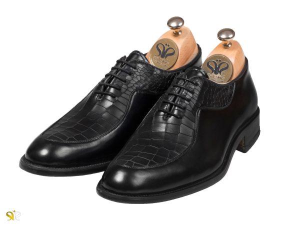 کفش مردانه مجلسی تمام چرم مدل گلبرگ - کفش سی سی
