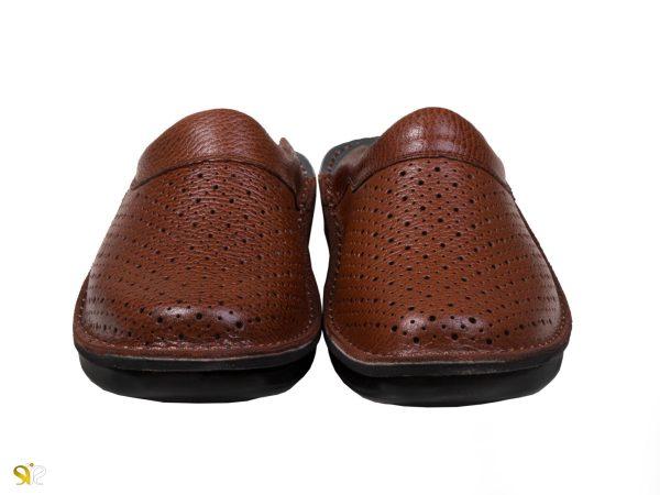 کفش مردانه مدل کاستر رنگ عسلی - دمپایی مردانه