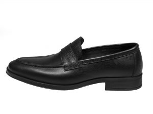 کفش مردانه چرم مدل بوفالو رنگ مشکی سی سی
