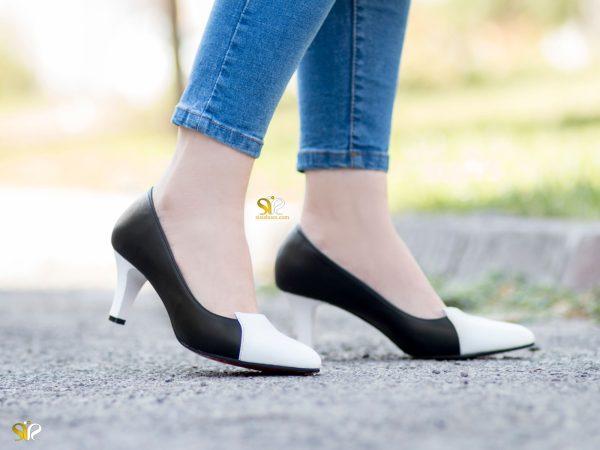کفش پاشنه دار باریک زنانه ۵ سانتی متری مدل آپرین