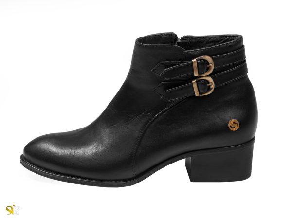 نیم بوت زنانه مدل فلورا رنگ مشکی - کفش زنانه