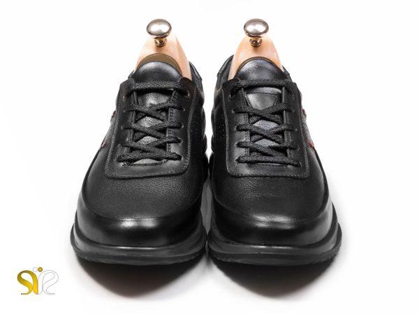 کفش اسنیکرز مشکی بنددار مدل کراس - کفش اسنیکرز بنددار