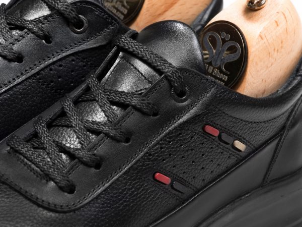 کفش اسپرت پسرانه چرم مدل کراس مشکی - کفش اسنیکرز