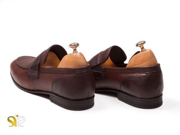 کفش مردانه تخت مدل آرمان بی بند سی سی - کفش تبریز