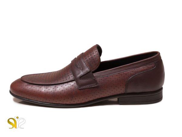 کفش کلاسیک مردانه مدل آرمان بی بند رنگ قهوه ای - کفش
