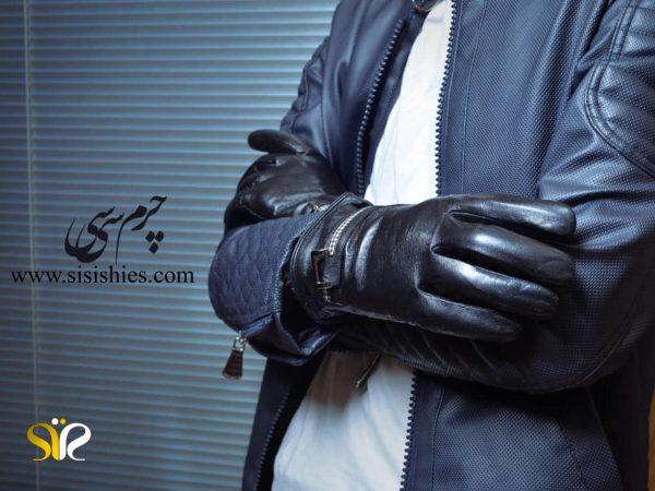 دستکش چرمی مردانه سی سی - دستکش مردانه چرم