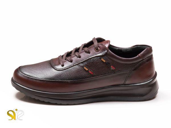 کفش اسپرت مردانه مدل کراس قهوه ای بنددار - کفش