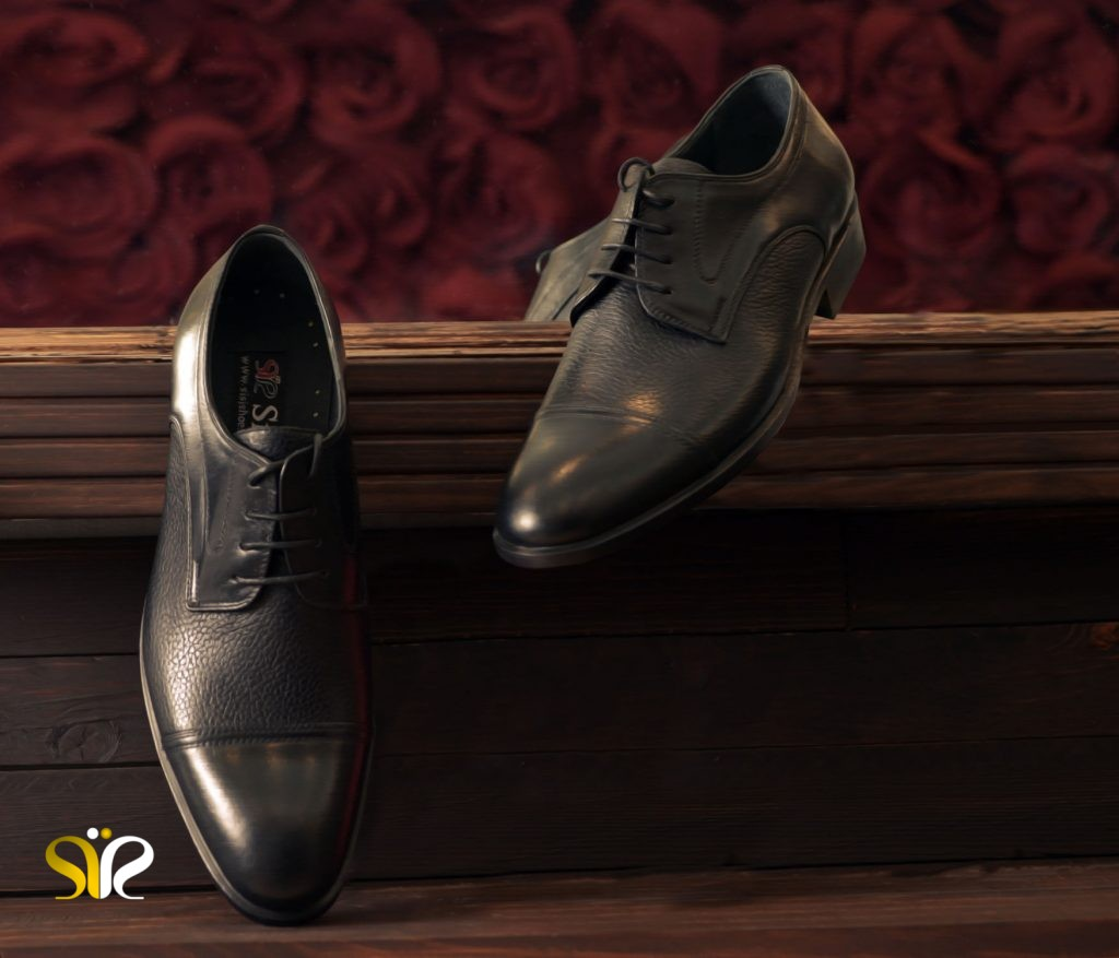 کفش چرم رسمی مردانه مدل پالو مشکی