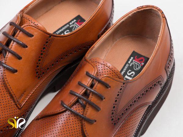 کفش سی سی مدل بتا عسلی - کفش چرم اداری