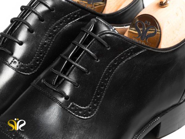 چرم براق مات کفش مردانه کلاسیک مدل پاناما