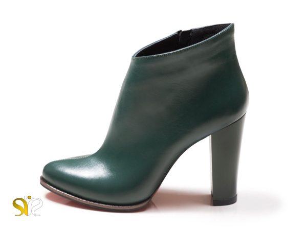 کفش چرمی پاشنه ۱۰ سانتی متری جولیا - نیم بوت سی سی