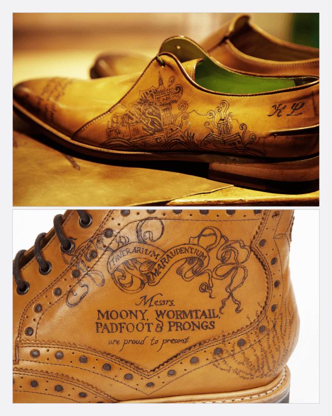 خال کوبی بر روی انواع محصولات چرمی مانند کفش، کیف، لباس و سایر (The tattoo Leather)