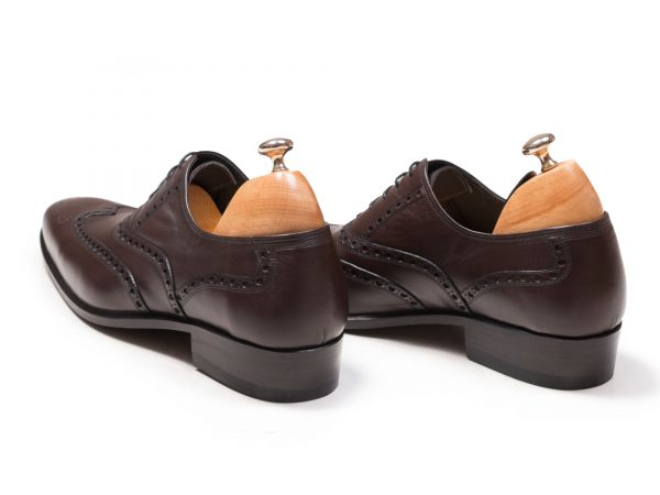 کفش هشت ترگ کلاسیک چرم مدل آذین قهوه ای